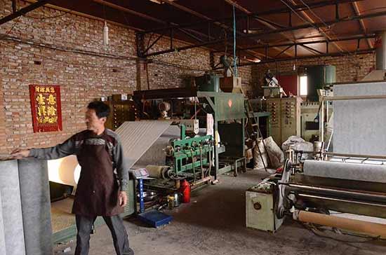 丙纶布生产车间2
